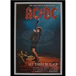 AC/DC: Let There Be Rock - Original 1980 Release (Autographed) One-Sheet Poster