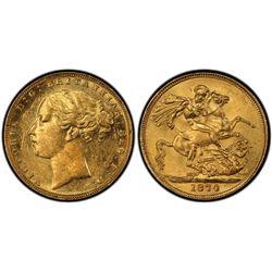 1874 Melbourne Sovereign PCGS MS61
