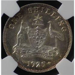 1925 Shilling NGC MS63