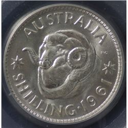 1961 Shilling PCGS MS66
