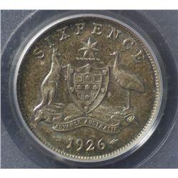 1926 Sixpence PCGS MS64