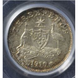 1910 Threepence PCGS MS64