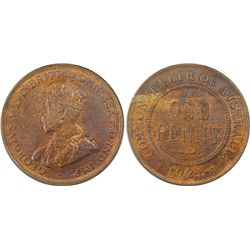 1921 Penny PCGS MS63 RB
