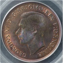 1946 Penny PCGS MS64 Brown