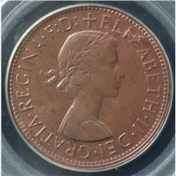 1964M Penny PCGS MS65 Red Brown
