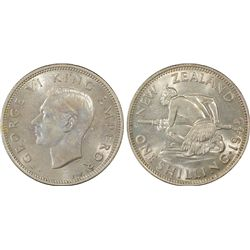 New Zealand 1945 Shilling PCGS MS63