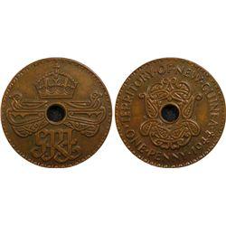 New Guinea 1944 Penny PCGS MS63 Bn