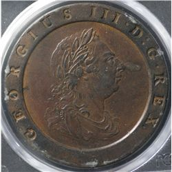 Great Britain 1797 Cartwheel 2 pence PCGS XF 45
