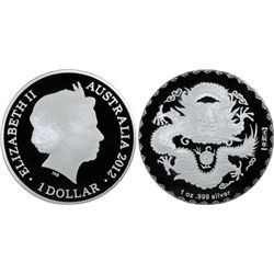 Australia 2012 Dragon $1 PCGS PR69 DCAM