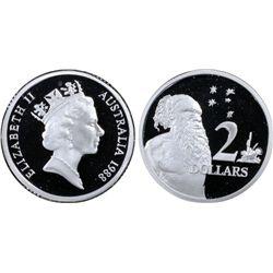 Australia 1988 $1 & $2 PCGS PR69