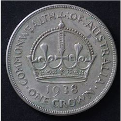 Australia 1937 & 1938 Crown Pair