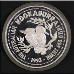 1993 1 Kilo Silver Kookaburra