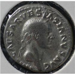 Ancient Rome , Vespasian Denarius 69-79 AD