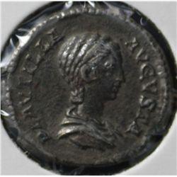 Ancient Rome , Plautilla, Wife of Caracalla Denarius
