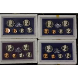 1977 Proof Set, 1978 Proof Set, 1979 Proof Set and 1980