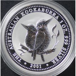 1 Oz Kookaburra Series, 2001 and 2002