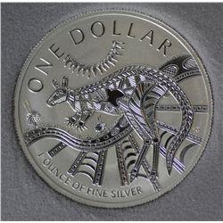 2003 1 Oz Silver Kangaroo
