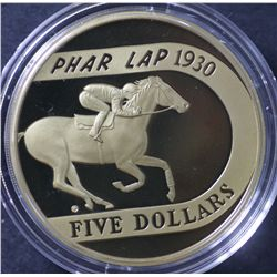 2000 Proof $5 Phar Lap