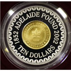 2002 Adelaide Pound Commemorative $10 Proof