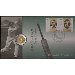 $5 Bradman Stamp and Coin Issue x 2