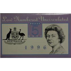 Australia 1996 $5 Note Set