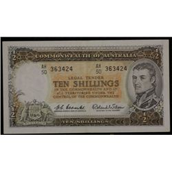QE 11 Note Set of ten Shillings, pound , 5 pound All EF, 10 Pound VF