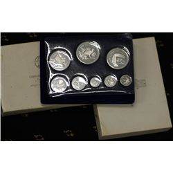 Belize Proof Set 1974, 1974 Sterling Silver Set