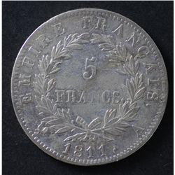 France 5 Francs Napoleon 1811 A
