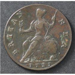 GB 1731 Half Penny