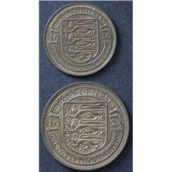Jersey 1/12 Shilling 1923, 1/24 Shilling 1926