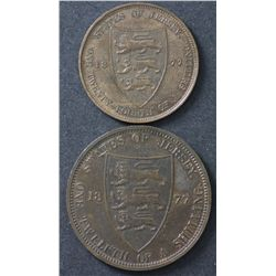 Jersey 1/12 Shilling 1877, 1/24 Shilling 1877