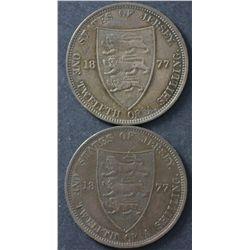 Jersey  1/12 Shilling 1877 (2) 1913 1/12 Shilling