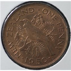 New Zealand Pennies, Full Red Unc