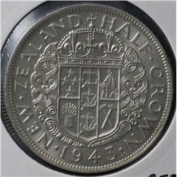 New Zealand Half Crown 1943