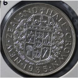 New Zealand Halfcrowns 1933, 1934 & 1935