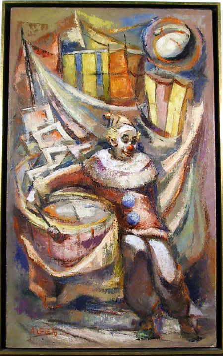 Philippe Alfieri, The Clown, Oil Painting