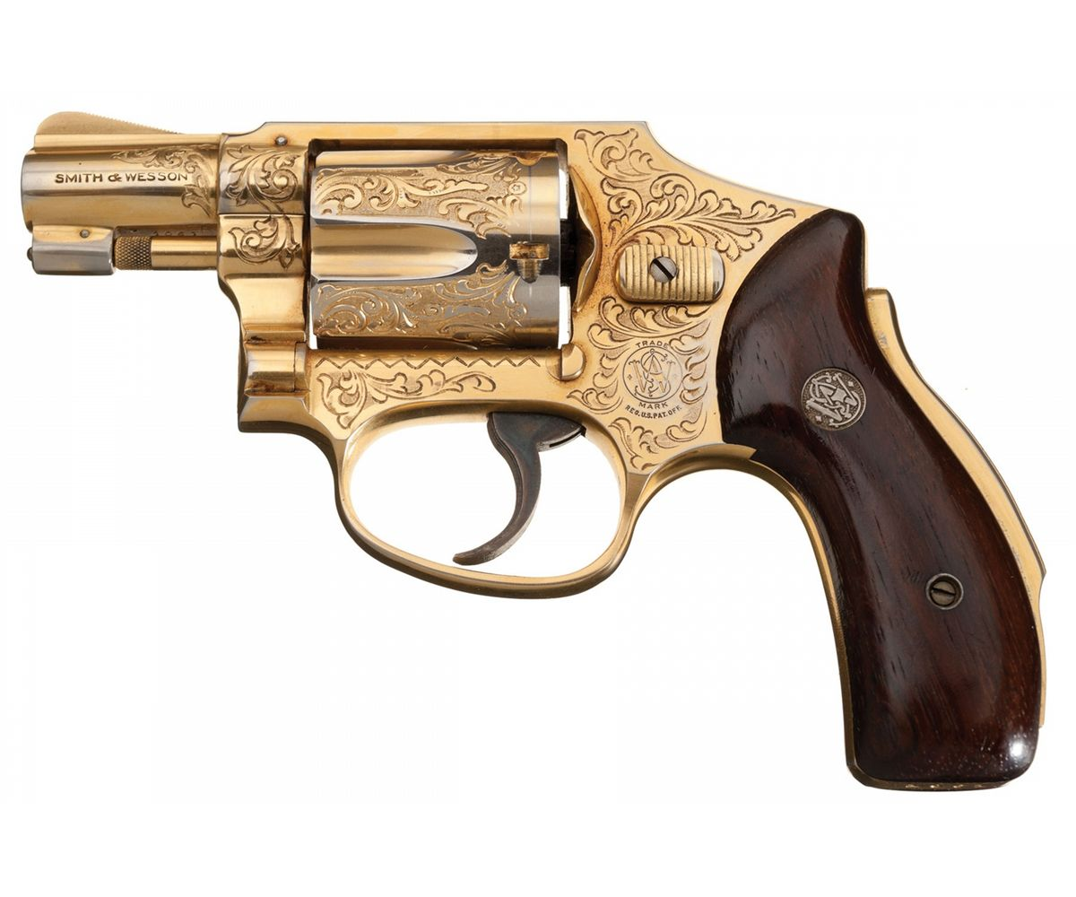 Rare Gold Plated Engraved Smith & Wesson Pre-Model 40 Centennial Double  Action Revolver