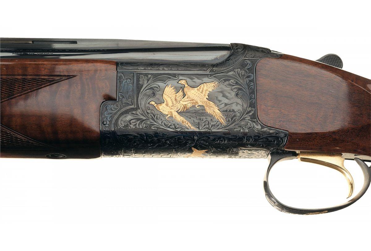 Engraved Browning Grade 6 Citori Lightning Field Over/Under 12 Gauge  Shotgun with Box