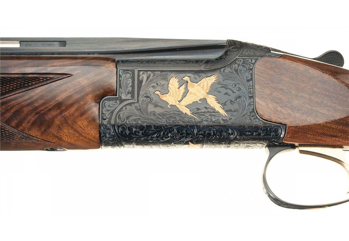 Engraved Browning Grade 6 Citori Lightning Field Over/Under 410 Gauge  Shotgun with Box