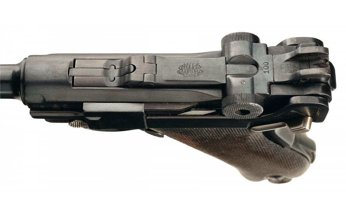 DWM First Issue Altered Safety 1906 Navy Luger with II Torpedo Division  Markings