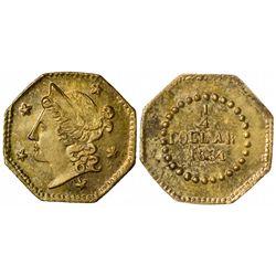 1854 octagonal ¼ Dollar BG-105, Rarity 3, Die State I