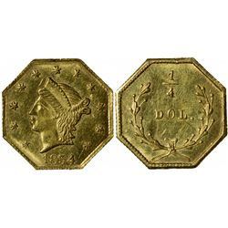 1854 octagonal ¼ Dol., BG-108, Low Rarity 4