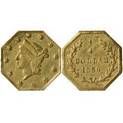 1856 octagonal ¼ Dollar, BG-111, Rarity 3, Die State I