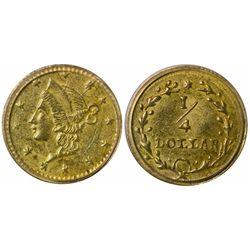 No Date (1853) round ¼ Dollar, BG-204B Rarity 8, Jay Roe