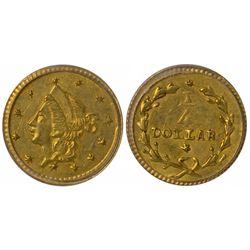 No Date (1853) round ¼ Dollar, BG-205, Rarity 8, Die State I (unbroken dies)