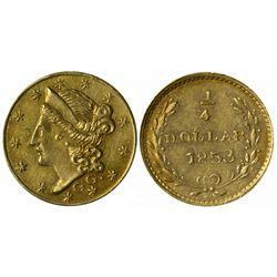 1853 G G. round ¼ Dollar, BG-218.