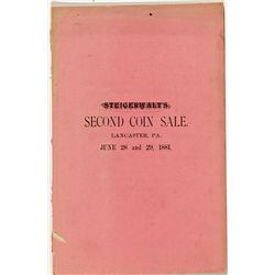 PA, Lancaster--Steigerwalt's Second  Coin Sale Catalog