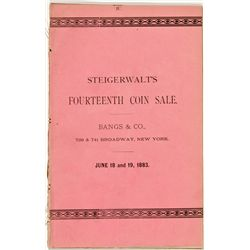 NY, New York City--Steigerwalt's Fourteenth Coin Sale Catalog