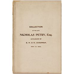 PA, Philadelphia--S.H. and H. Chapman Catalog of Nicholas Petry Collection