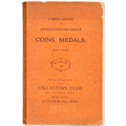NY, New York City--Ed. Frossard US and Foreign Coins and Medals Catalog